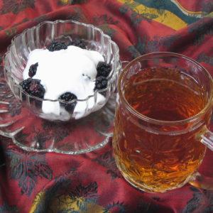 Blackberries and Cream flavored black tea