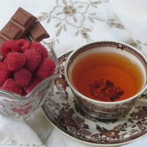 Chocolate raspberry truffle flavored black tea