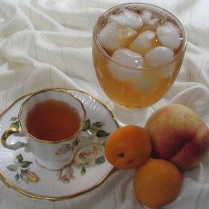 Peach apricot flavored black tea